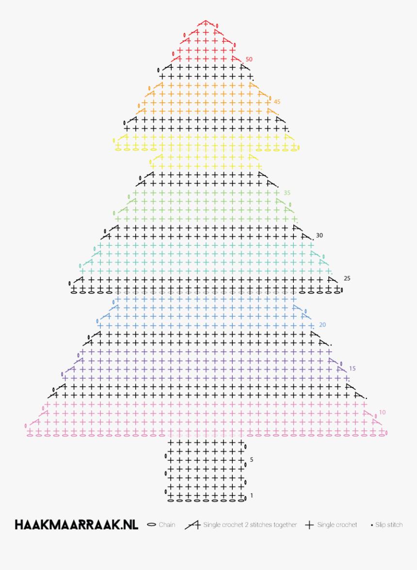 Nl/free Crochet Pattern Rainbow Christmas Tree/ - Christmas Tree, HD Png Download, Free Download