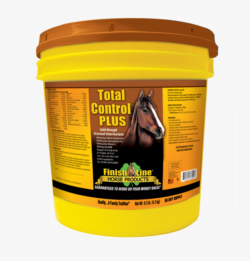 Finish Line All In One Horse Supplement With Bleeder - Finish Line Total Control Plus 23.2, HD Png Download, Free Download