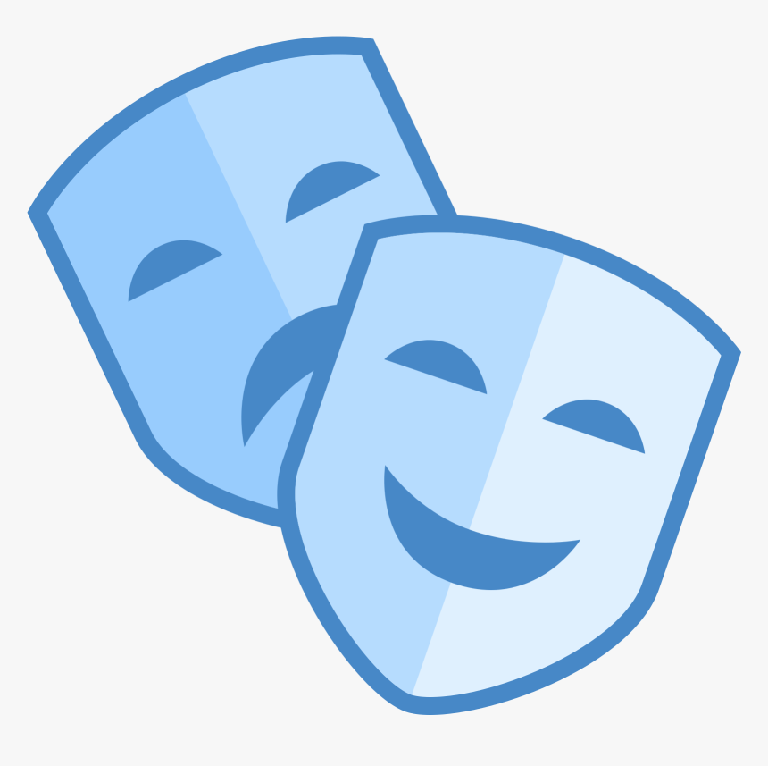 Theatre Clipart Mask Icon - Theatre Masks Icon Png, Transparent Png -  kindpng