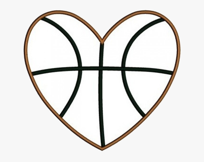 Basketball Heart Black And White Great Free Transparent - Heart Shaped Basketball Heart Clipart, HD Png Download, Free Download