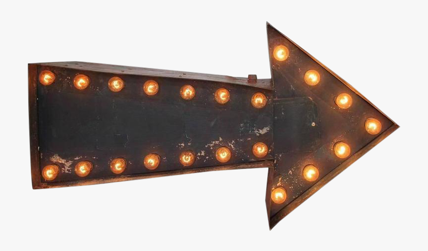 Vintage Double Sided Light Up Arrow Sign - Transparent Light Up Arrow, HD Png Download, Free Download