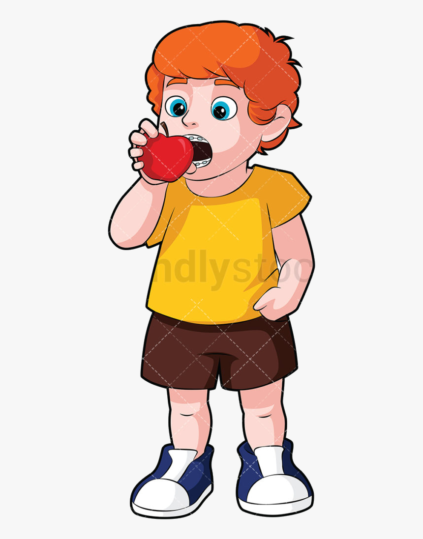 Eating Clipart Boy Little With Braces Transparent Png - Cartoon, Png Download, Free Download