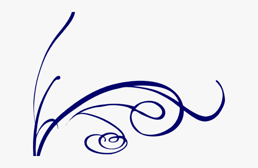 Decorative Line Blue Clipart Flower - Decorative Lines, HD Png Download, Free Download