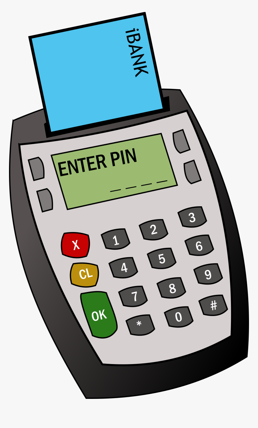 Chip And Pin Machine Clip Arts - Card Machine Clipart, HD Png Download, Free Download