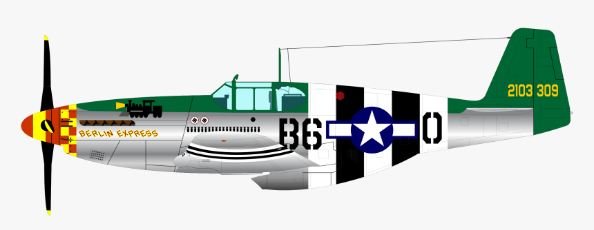 P-51b Fighter Clip Arts - P51 Mustang Clipart, HD Png Download, Free Download