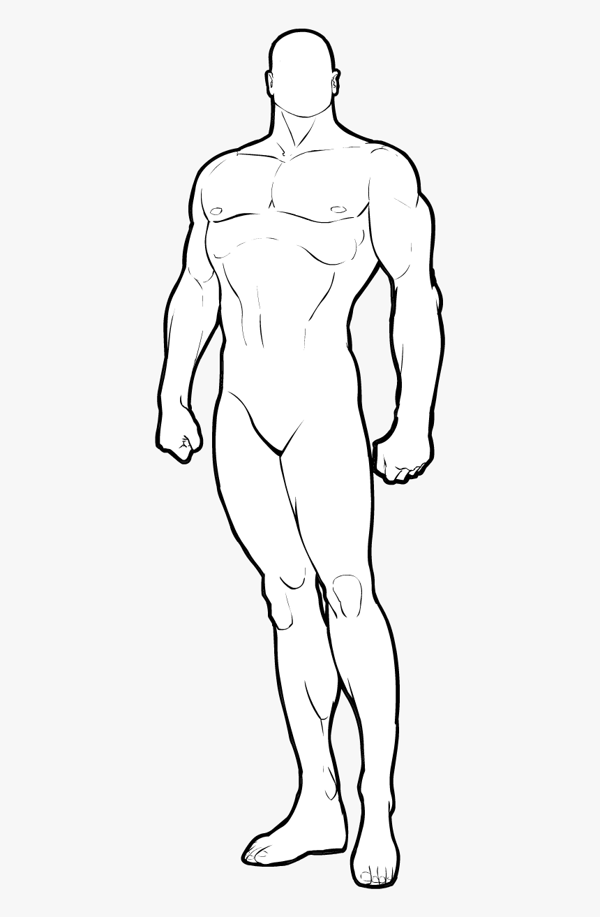 Muscular Male Body Base, HD Png Download, Free Download