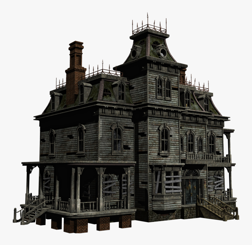 Old House - Haunted House Png, Transparent Png, Free Download