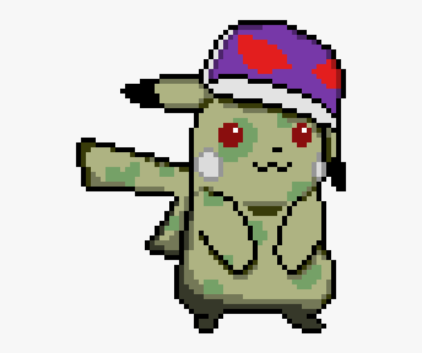Hd Zombie Picachu - Pikachu With Hat Pixel Art, HD Png Download, Free Download
