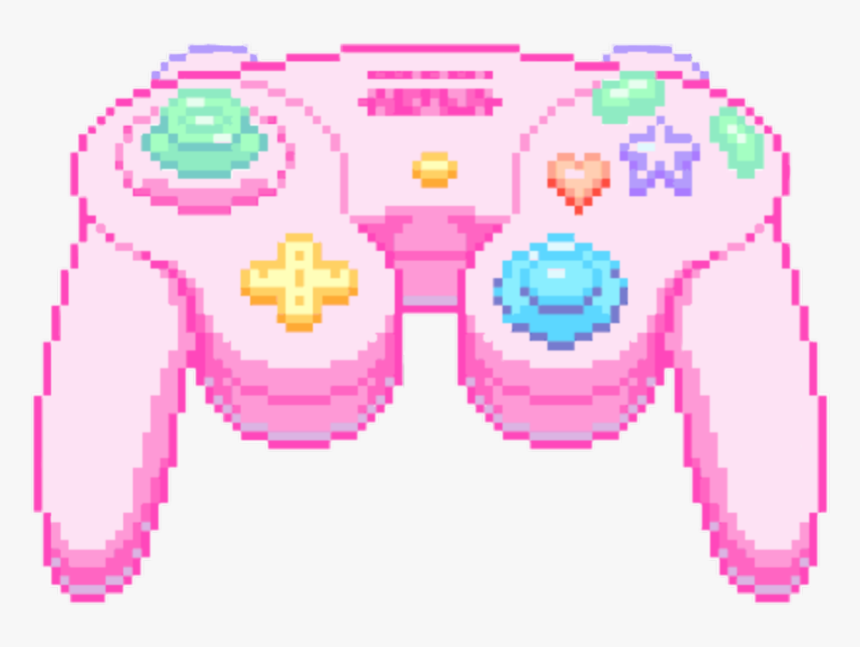 #kawaii #cute #game #console #pink #pastel #pixel #pixelated - Cute Game Controller Gif, HD Png Download, Free Download