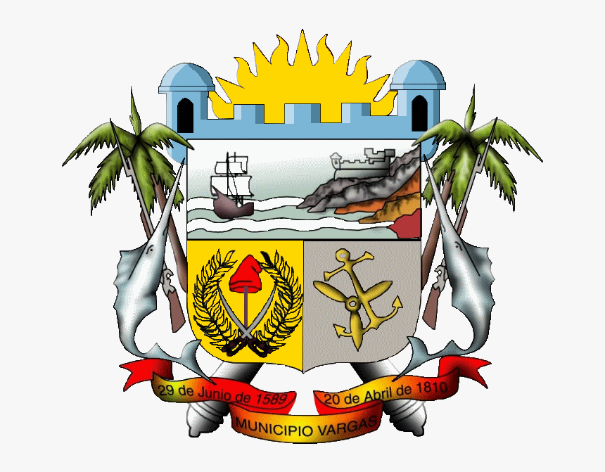 Escudo Municipio Vargas - Escudo Del Estado Vargas, HD Png Download, Free Download