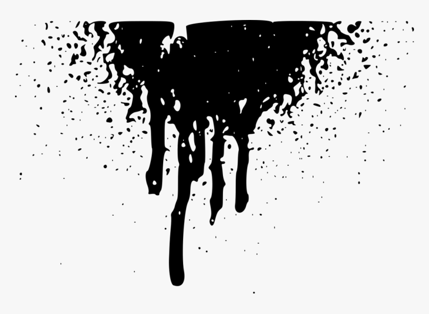 black paint png transparent paint png - black paint drop png, png download