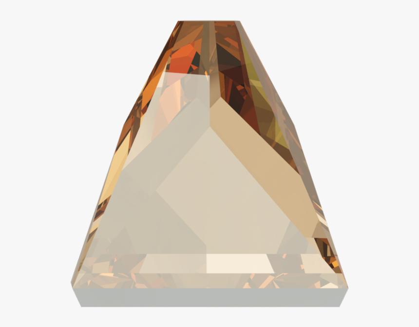 Swarovski 2419 Square Spike Flat Back Crystal Golden - Triangle, HD Png Download, Free Download