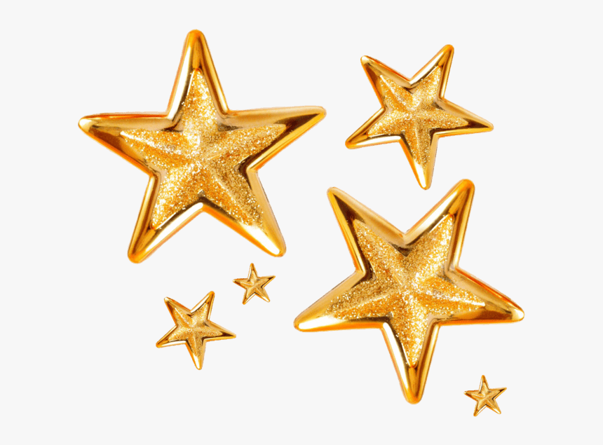 Group Of Christmas Stars - Transparent Background Gold Stars Png, Png Download, Free Download