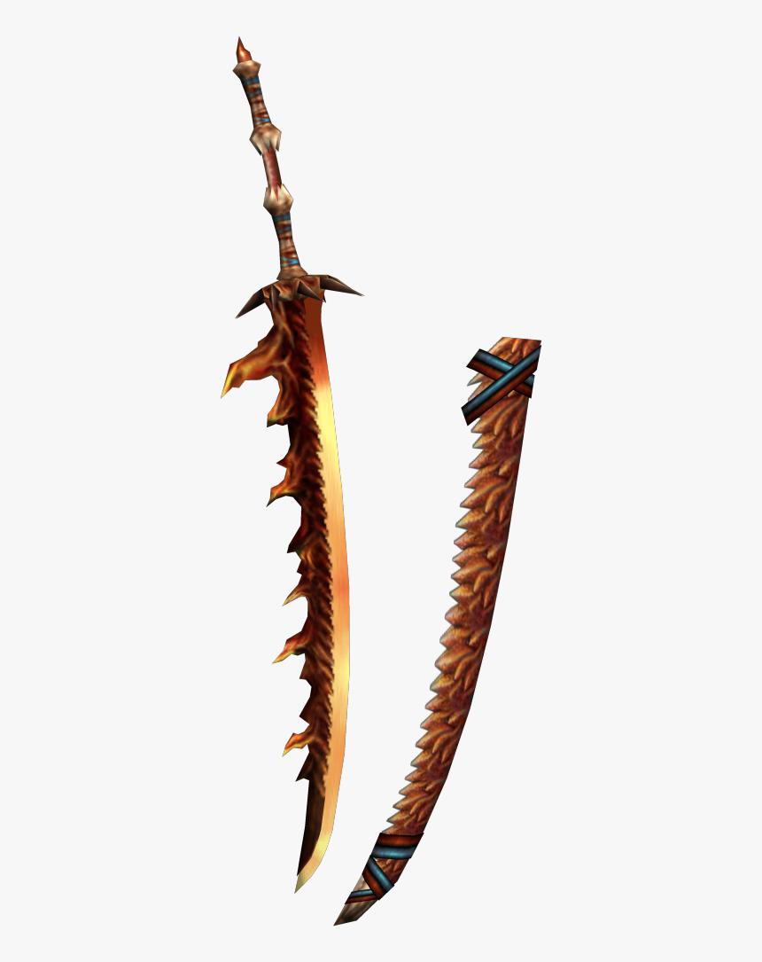 Fire Sword Png - Monster Hunter Fire Sword, Transparent Png, Free Download