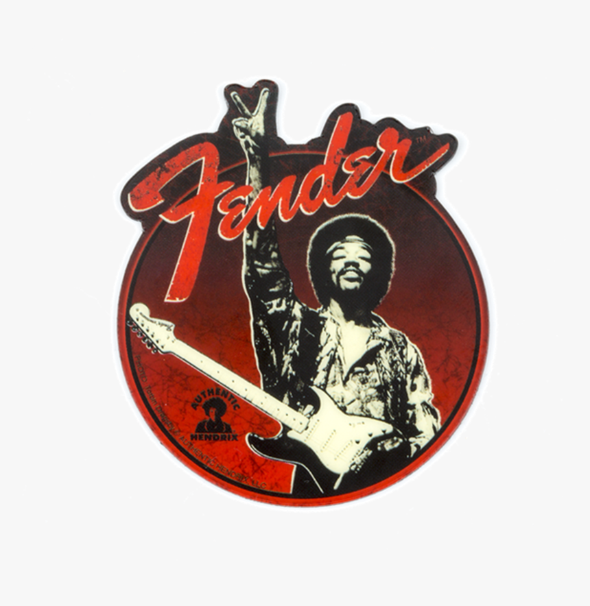 Fender Jimi Hendrix Peace Sign Magnet - Jimi Hendrix, HD Png Download, Free Download