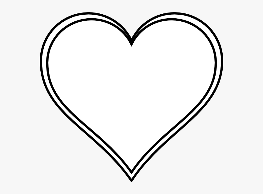 White Love Heart Vector, HD Png Download, Free Download