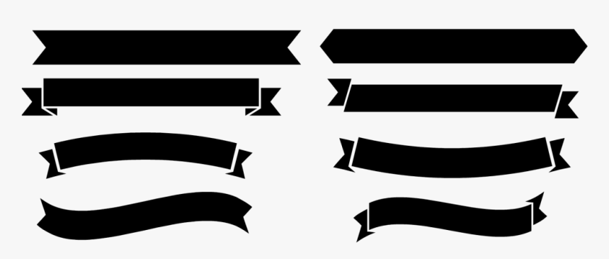 Black Banner Png Free Download Vector, Clipart, Psd - Banner Png Black And White, Transparent Png, Free Download