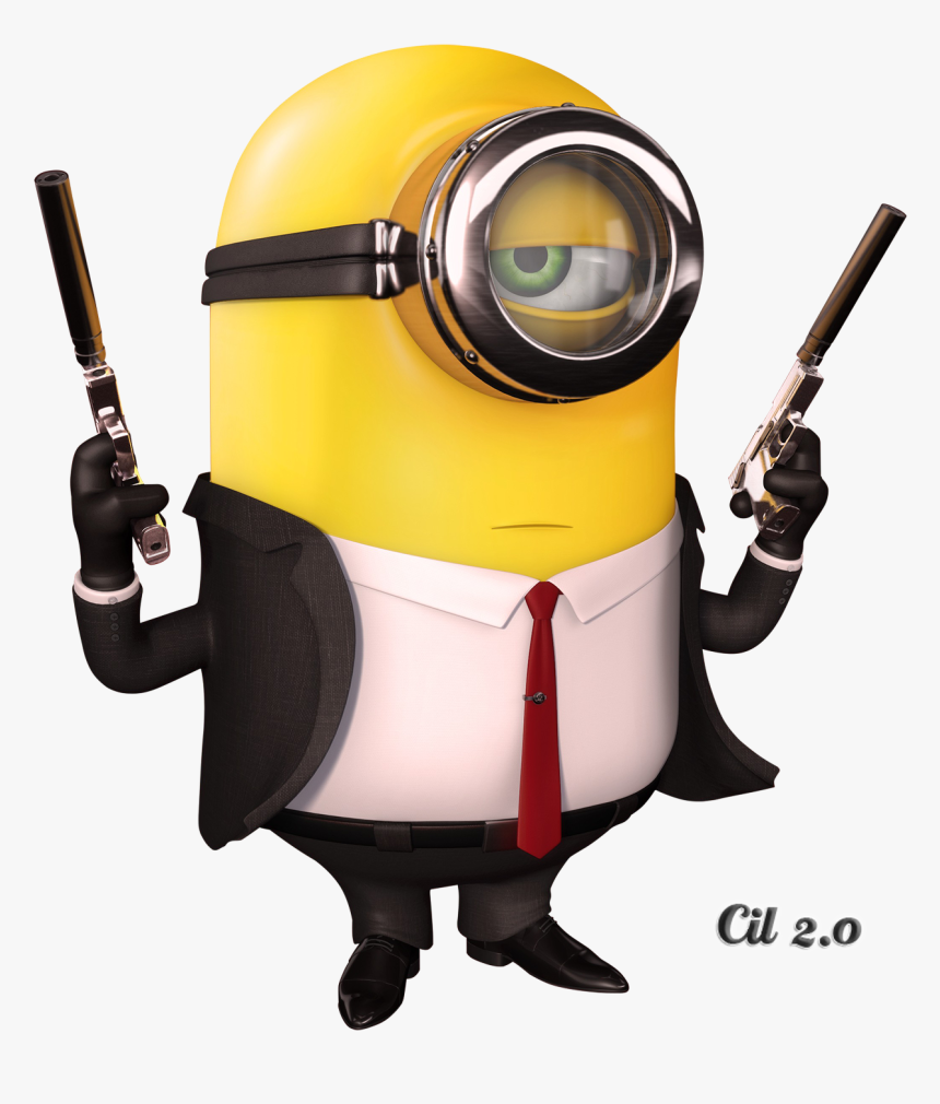 Humor Clipart Minion - Minion Hitman Png, Transparent Png, Free Download