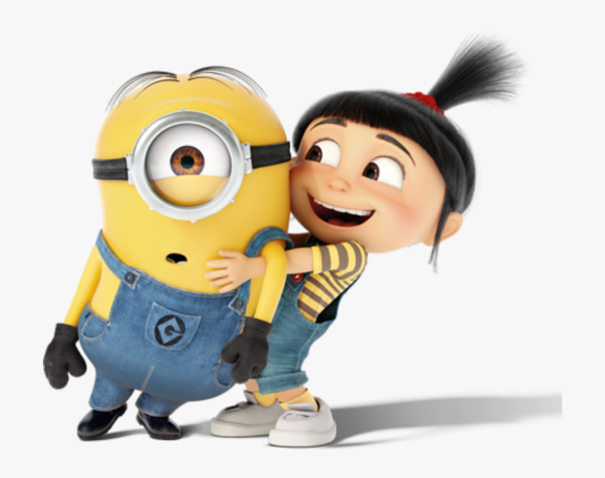Transparent Happy Girl Png - Agnes And Minions Despicable Me, Png Download, Free Download