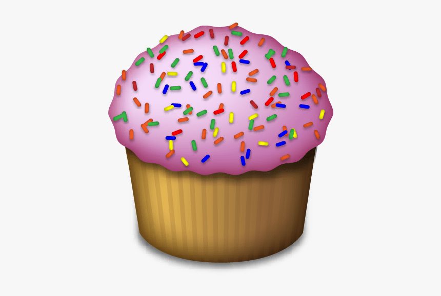 Cupcake Emoji - Food Emoji No Background, HD Png Download, Free Download
