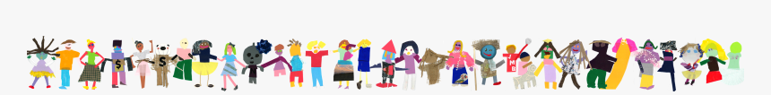 Paper Doll Holding Hands Png, Transparent Png, Free Download