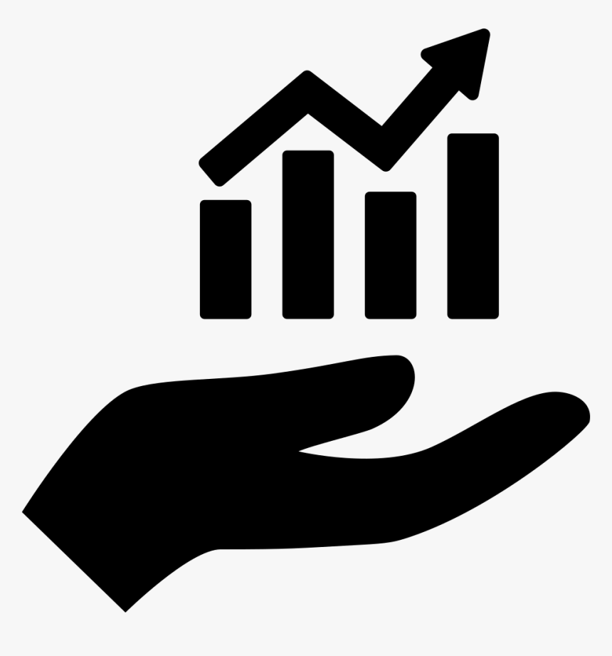 Hand Holding Up A Financial Graph - Hand Holding Up Icon, HD Png Download, Free Download