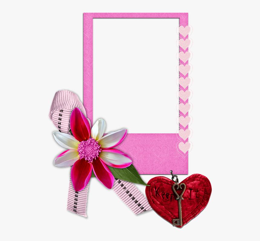 Frame, Empty, Love, Heart, Valentine, Scrapbook, Flower - Love Heart Frames Png, Transparent Png, Free Download