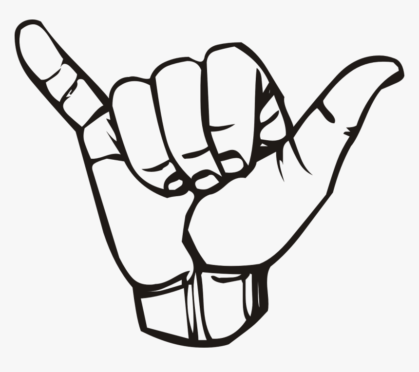 Cliparts For Free Download Hawaii Clipart Shaka And - Sign Language Y Png, Transparent Png, Free Download