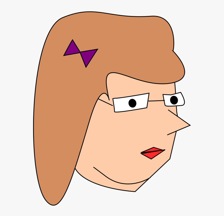 Transparent Woman Head Png - Drawing, Png Download, Free Download