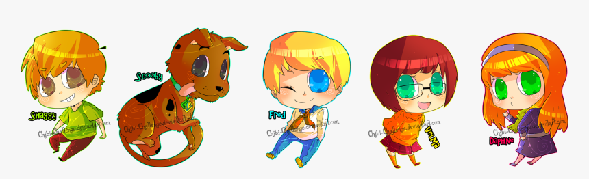 Chibi Movie Game Characters Chibi Scooby Doo Characters Hd Png Download Kindpng