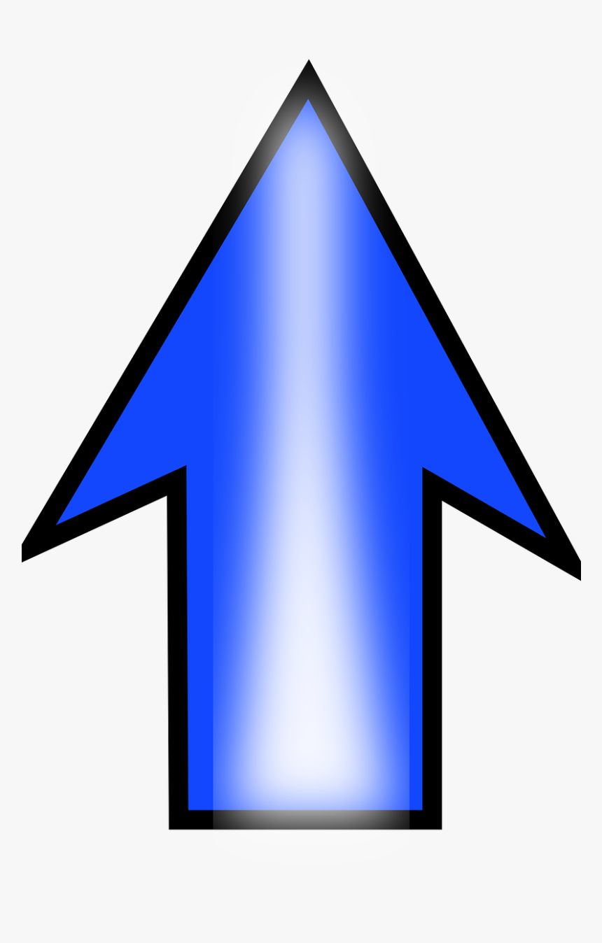 Arrow Up Blue - Clip Art Arrow Pointing Up, HD Png Download, Free Download