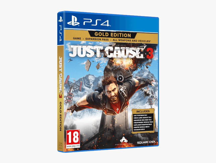 Ps4 Just Cause 3 Gold Edition, HD Png Download, Free Download