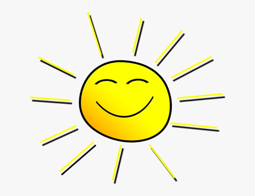 Smiling Sun Png - Smiling Sunshine Clipart, Transparent Png, Free Download