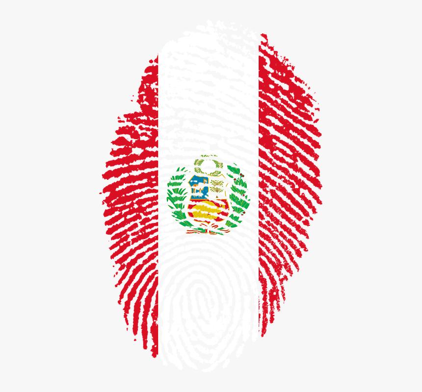 Peru, Flag, Fingerprint, Country, Pride, Identity - Peru Png, Transparent Png, Free Download