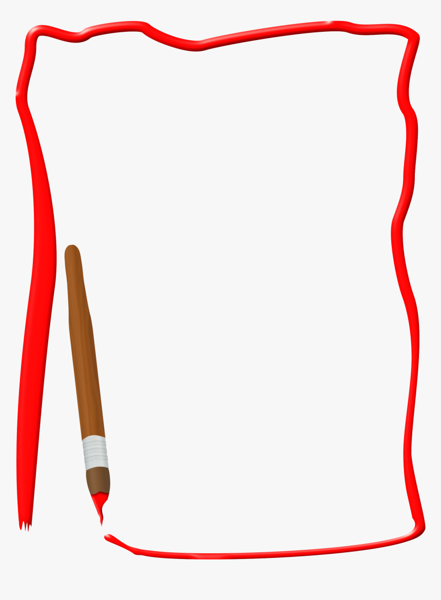 Paint Brush Borders Clipart Borders And Frames For Office Hd Png Download Kindpng
