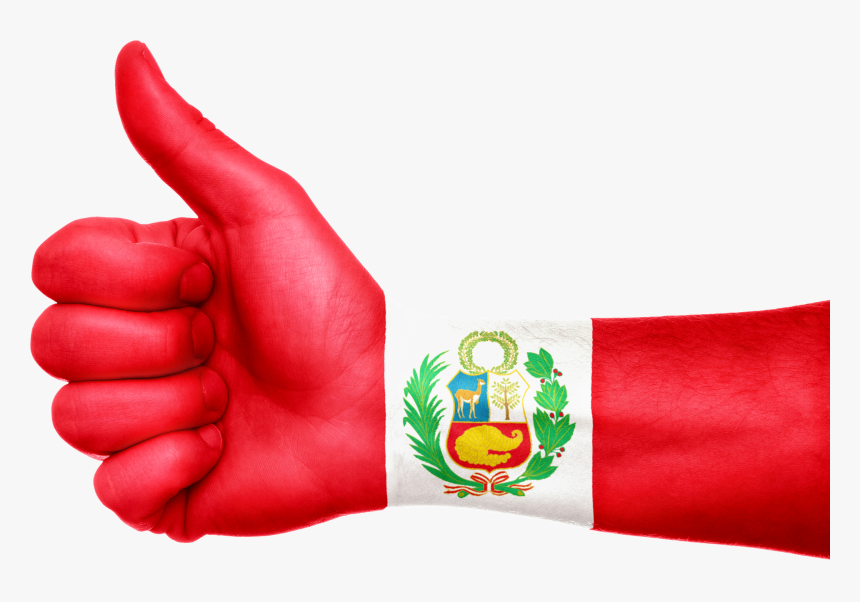 Peru Flag Hand Free Picture, HD Png Download, Free Download