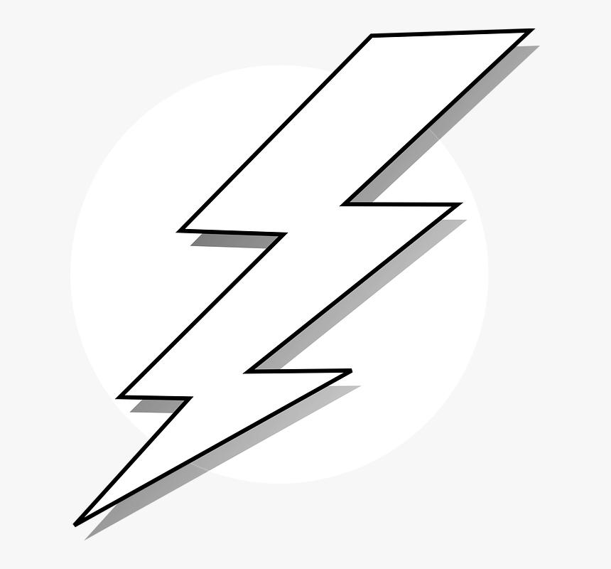 Transparent Lightning Vector Png - Black And White Lightning Bolt, Png Download, Free Download