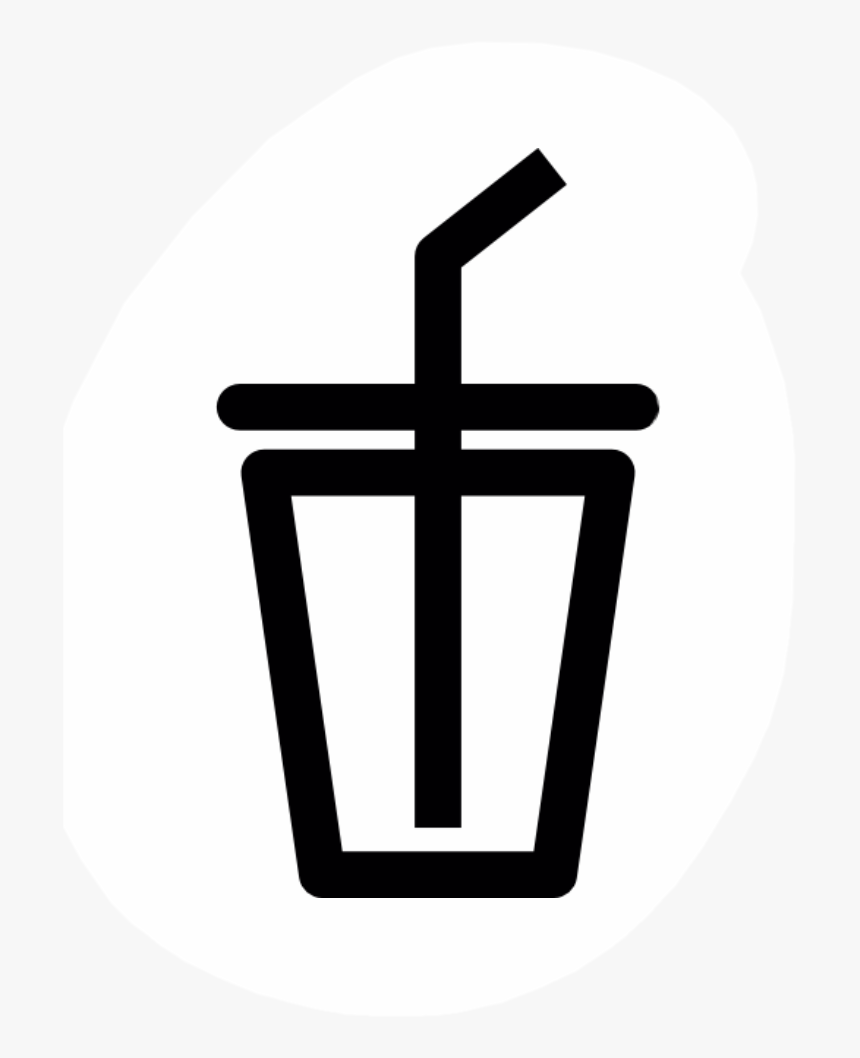 #food #drink #water #boba #freetoedit - Drinks Icon Black And White, HD Png Download, Free Download