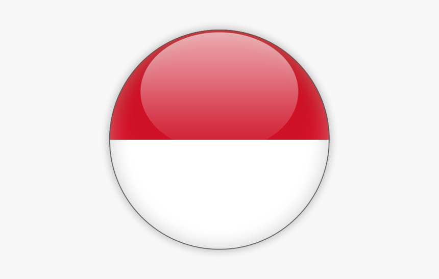Indonesia Flag Round Icon, HD Png Download, Free Download