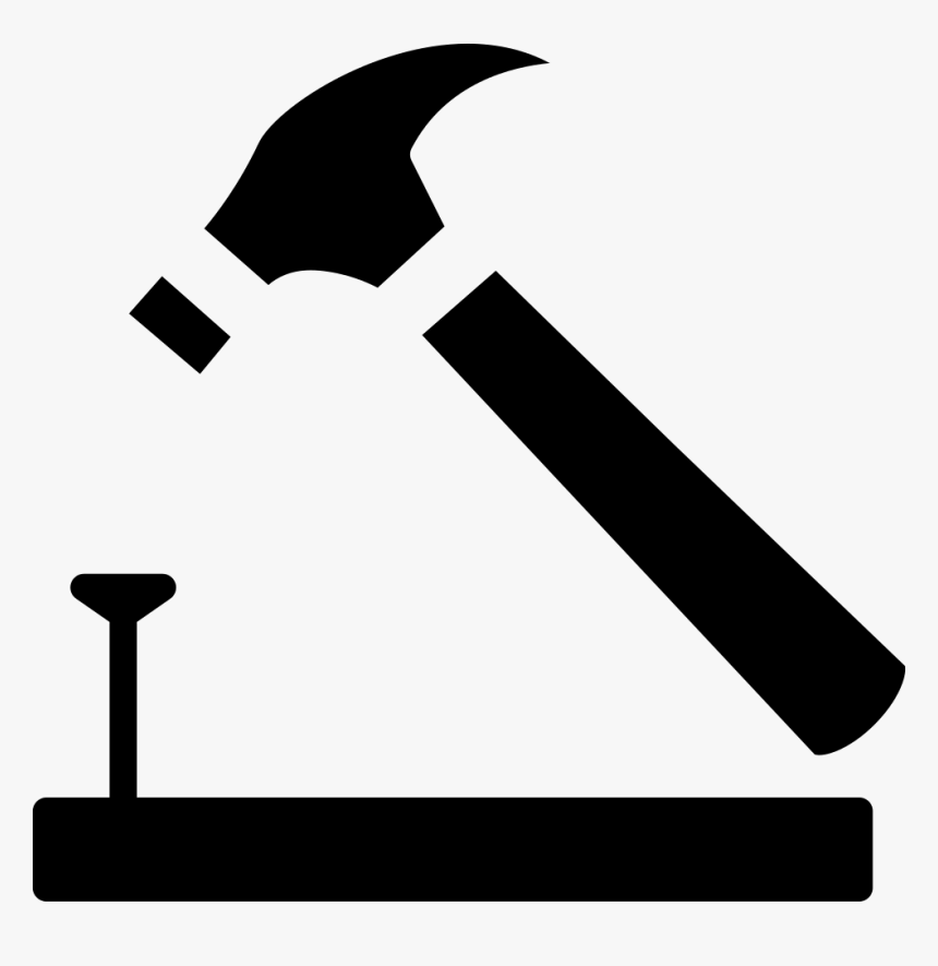 Nail Clipart Small Hammer - Free Hammer Icon, HD Png Download, Free Download