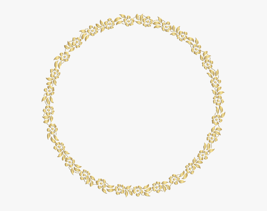 Gold Circle Png - Gold Round Floral Border, Transparent Png, Free Download