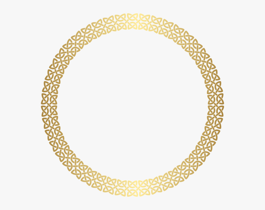 Transparent Textures Clipart - Golden Round Frame Png, Png Download, Free Download