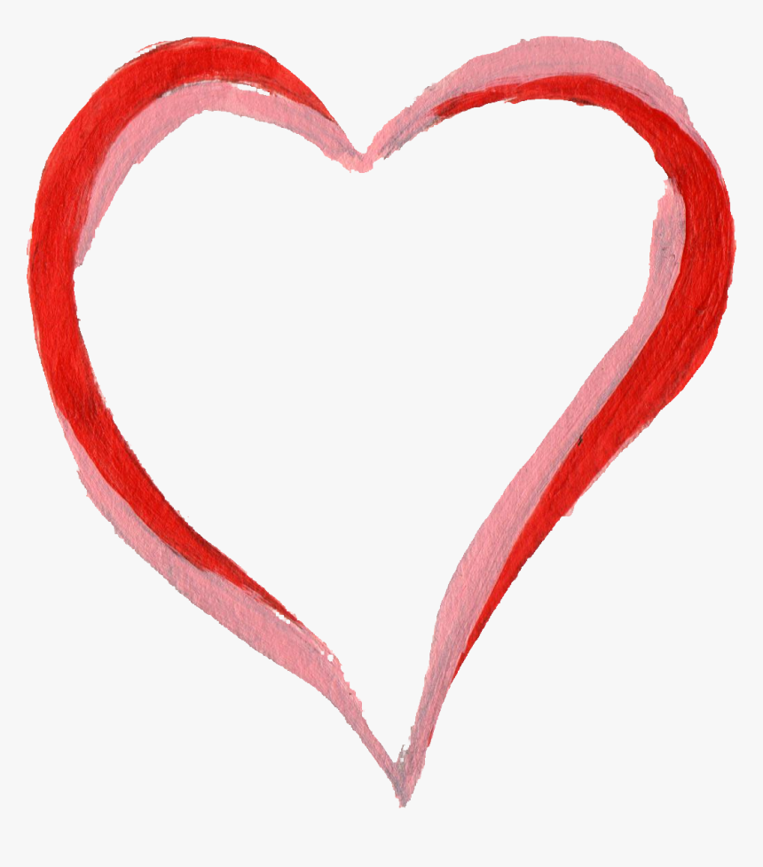 Hearts Frames Illustrations Hd - Heart Paint Brush Png, Transparent Png, Free Download