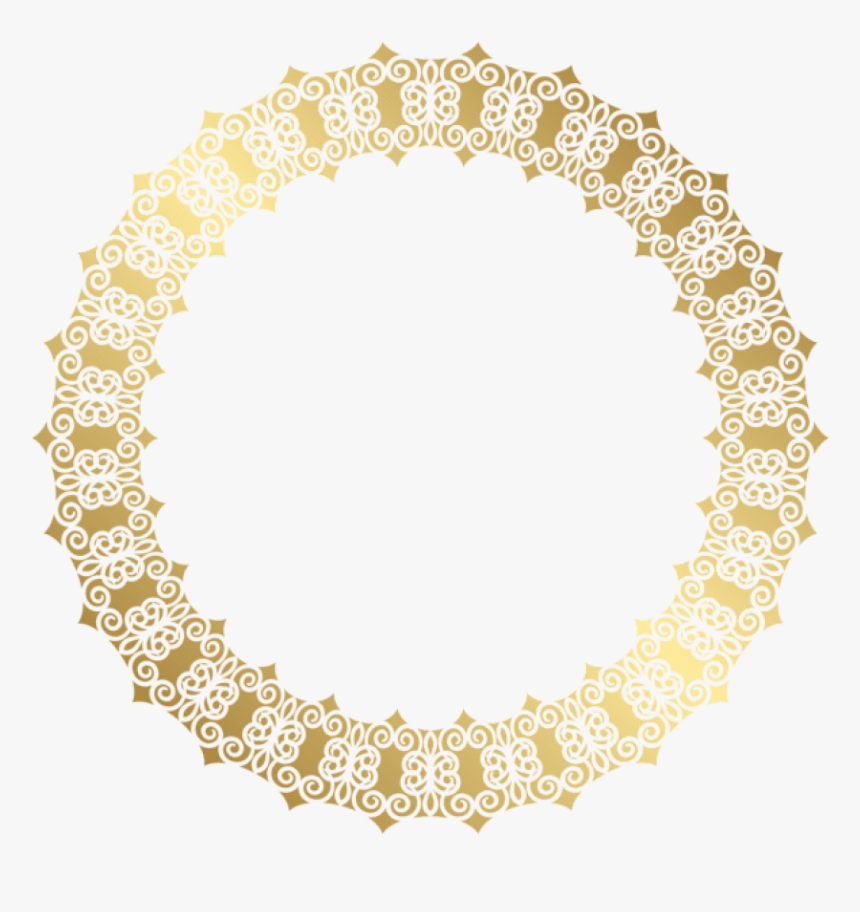 Circle Flower Free Png , Transparent Cartoons - Golden Circle Border Png, Png Download, Free Download