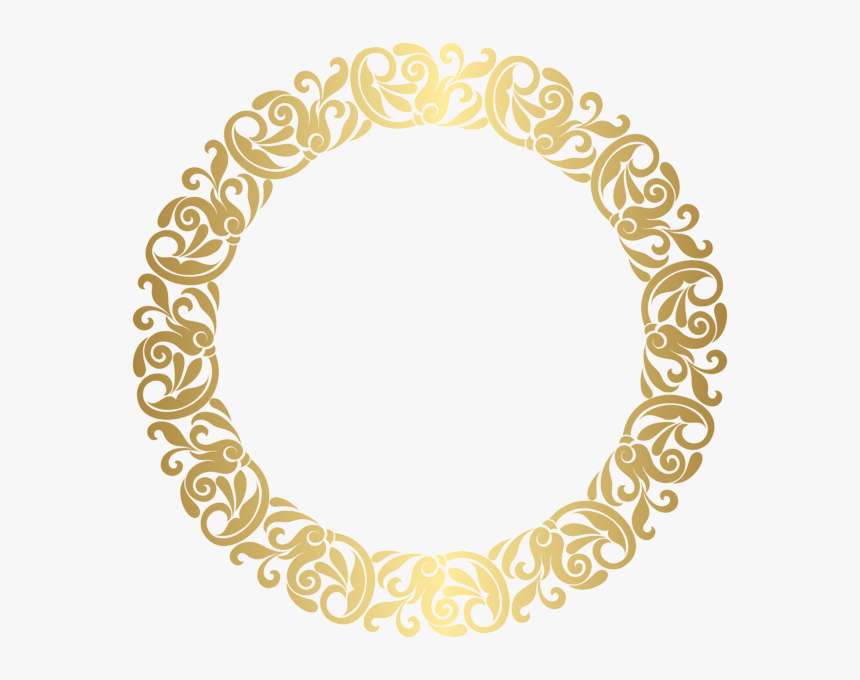 Transparent Sparkle Border Png - Golden Circle Frame Png, Png Download, Free Download
