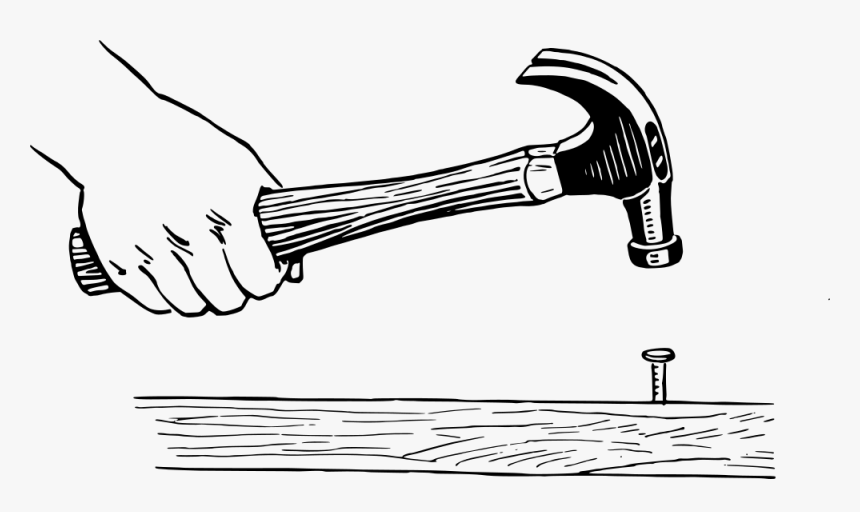 hammer hammering a nail clipart hd png download kindpng nail clipart hd png download