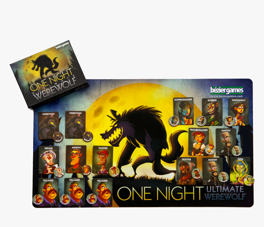 """One Night Ultimate Werewolf""""  Class=""""lazyload Lazyload - Tabletop Game, HD Png Download, Free Download"""