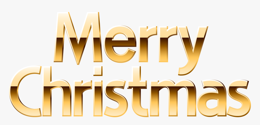 Gold Merry Christmas Banner Png , Png Download , Merry
