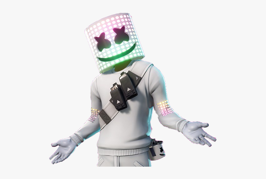 Fortnite Marshmello Skin Sticker By Meli - Marshmello Fortnite Extended Set, HD Png Download, Free Download