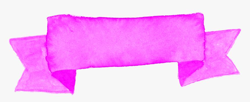 Pink Banner Watercolor Ribbon, HD Png Download, Free Download